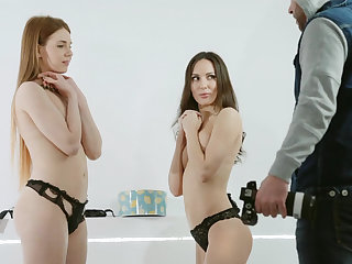 Kinky photo session with twosome babes
