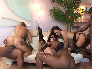 Fat crazy interracial sex party