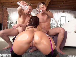 Ava Adams In Double-Penetration Action