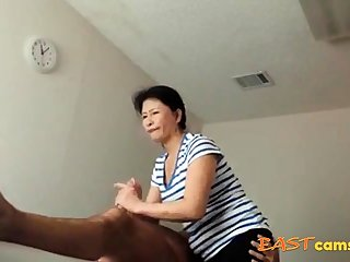 Asian Massage Parlour Venerable Asian Lady Makes Client Burst out with